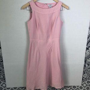 Ann Taylor Loft Blush Pink Linen Blend Midi Dress
